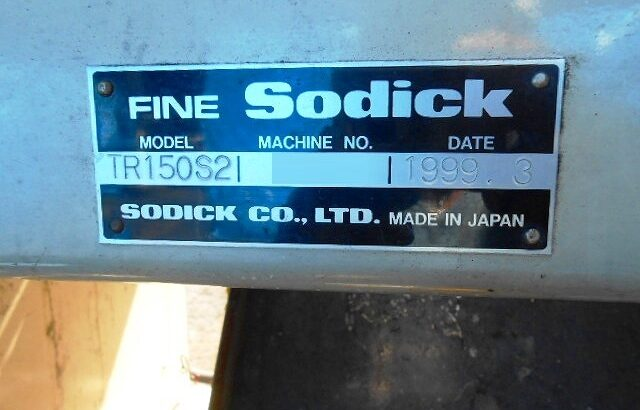 Sodick TR150S2, Year 1999, Screw 40mm